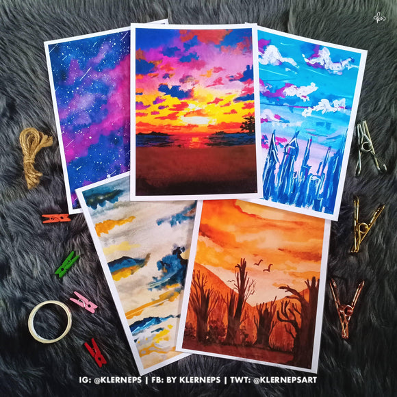 Skyscapes Art Prints by Klerneps