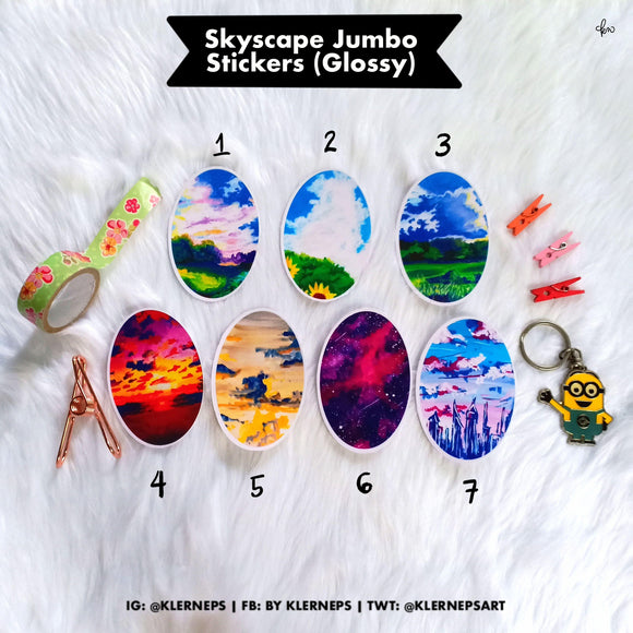 Skyscapes Jumbo Stickers by Klerneps