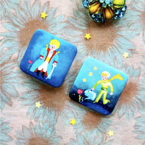 Little Prince Square Pins