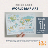 World Map Printable A2