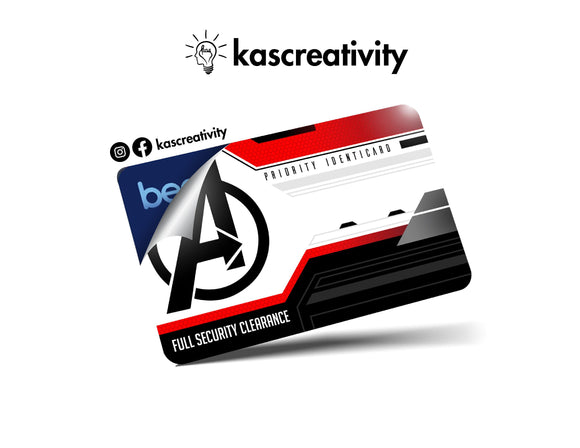 Avengers ID Card Skin Sticker