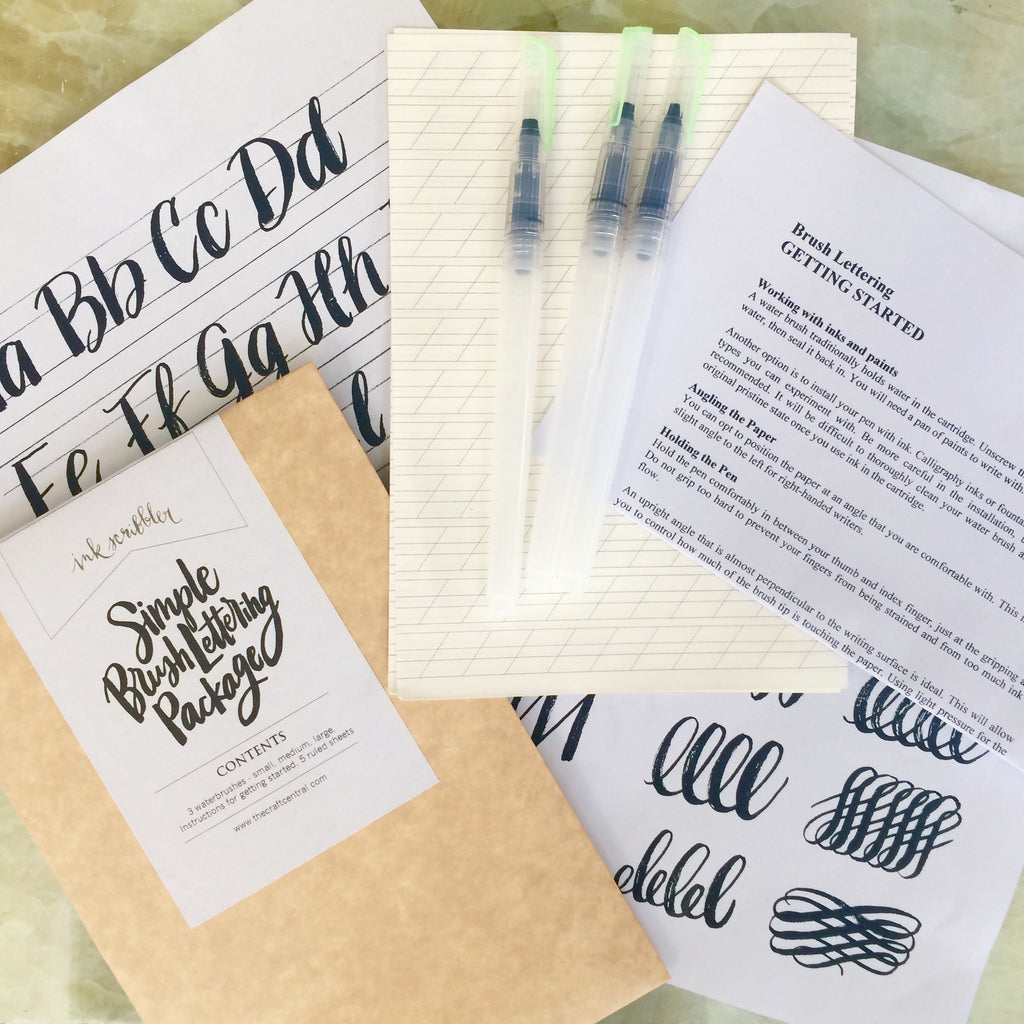 Simple Brush Lettering Package