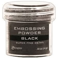 RANGER Embossing Powder Super Fine Detail - Black