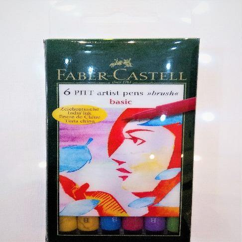 Faber Castell 6 Pitt Artist Pen BRUSH Basic