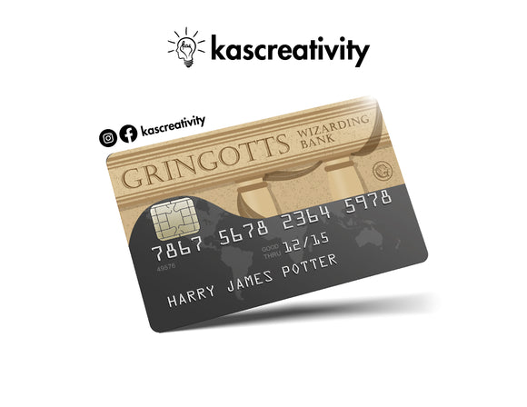 Gringotts - Bank Card Sticker