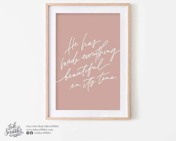 Ecclesiastes 3:11 Art Print - The Craft Central