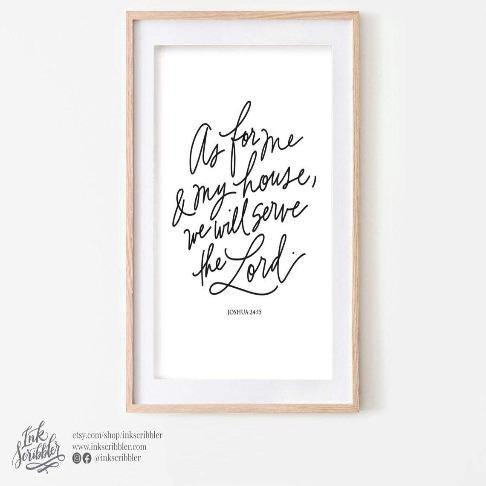 Joshua 24:15 Art Print - The Craft Central