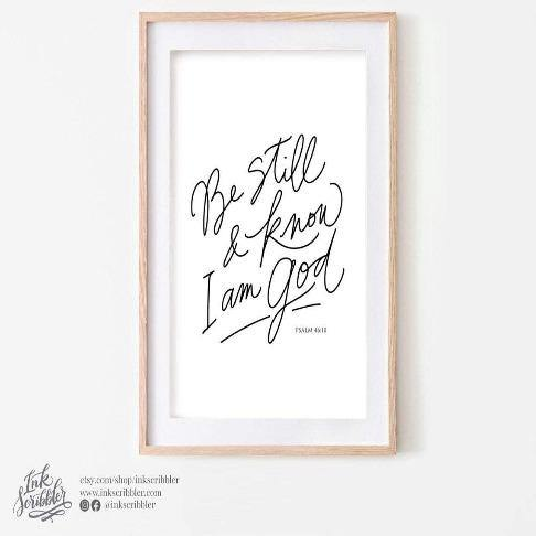 Psalm 46:10 Art Print - The Craft Central