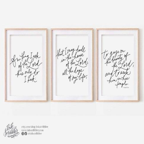 Psalm 27:4 Art Print - The Craft Central