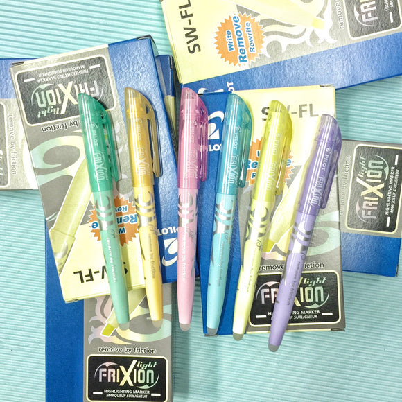 Pilot Frixion Pastel Highlighters