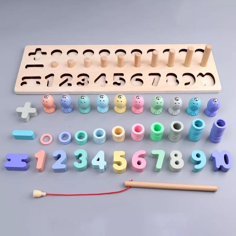 3 in 1 Wooden Math Play Set - The Craft Central