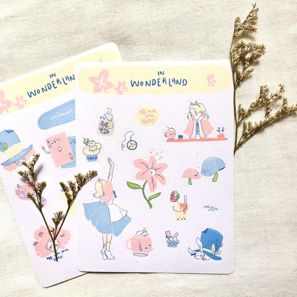 In Wonderland Sticker Sheets - The Craft Central