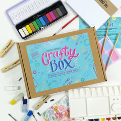 Watercolor Crafty Box