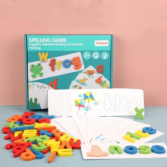 Spelling Game Wooden Letters