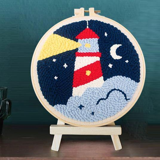 Lighthouse Punch Needle Kit - The Craft Central