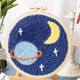 Planet and Moon Punch Needle Kit - The Craft Central