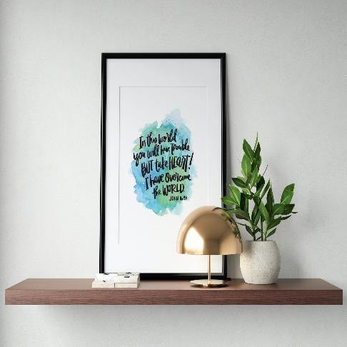 John 16:33 Art Print - The Craft Central