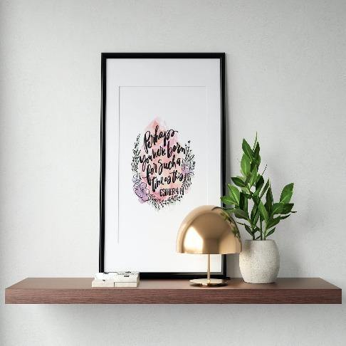 Esther 4:14 Art Print - The Craft Central