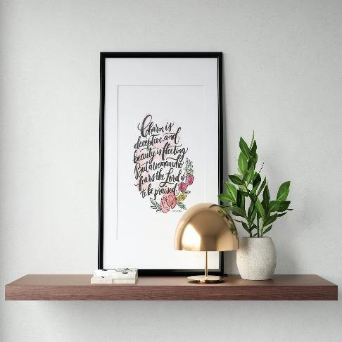 Proverbs 31:30 Art Print - The Craft Central