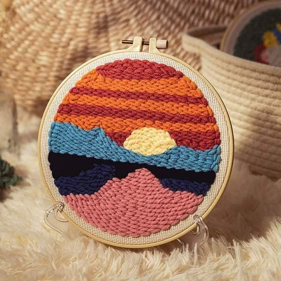 Sunset Punch Needle Kit - The Craft Central