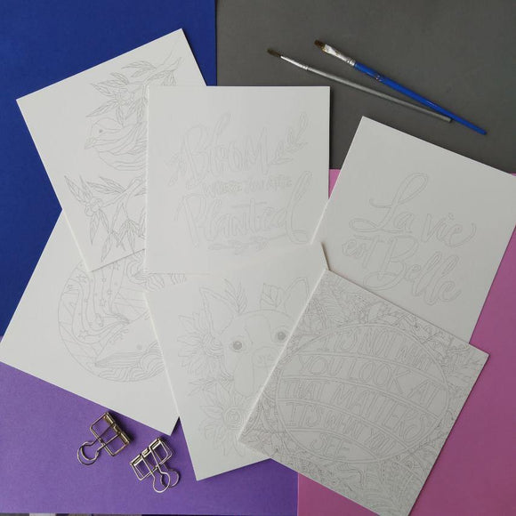 INK Watercolor Template Sheets - The Craft Central