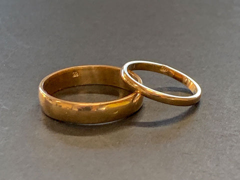 Wedding rings made in the BYO Gold Wedding Ring Workshop | Pod Jewellery