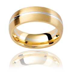 Multi-tone mens wedging ring