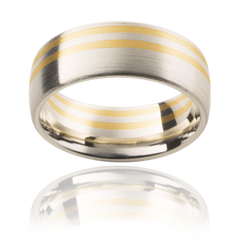 Two toned mens wedding ring