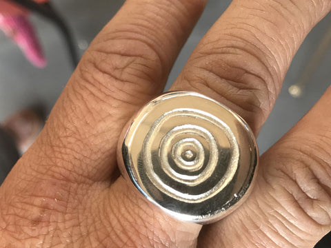 Lost Wax Carved Ring