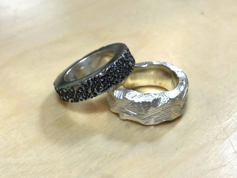 Lost Wax Silver Rings | Jewellery Workshops | Pod Jewellery