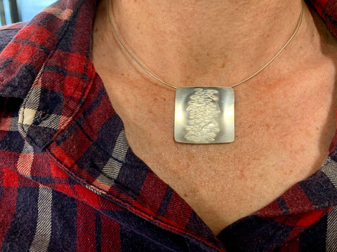 Silver Pendant Necklace made in the Intensive Beginners Jewellery Short Course