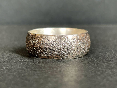 Sandstone Textured Ring | Silver Ring Workshop | Jewellery Making Course