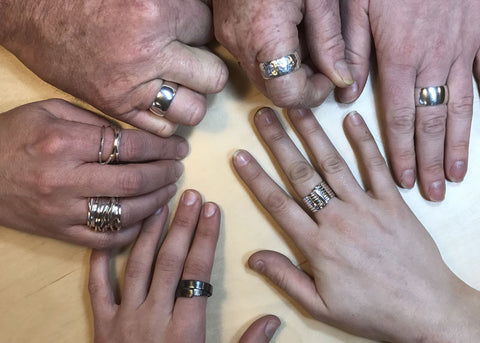 Pod Jewellery Silver Ring Making Workshop Classes Lessons