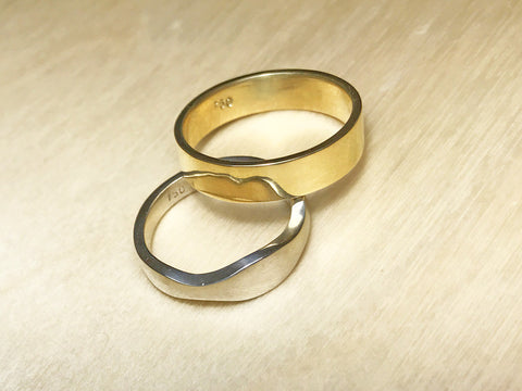 Formed and cast wedding rings