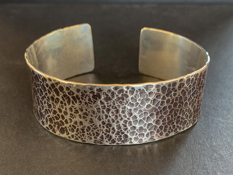 Oxidised Silver Cuff | Silver Bangle Making Workshop | Pod Jewellery