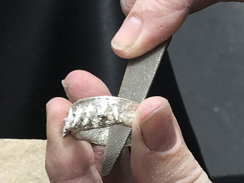Making a cuttlefish cast ring | Silversmithing class | Pod Jewellery