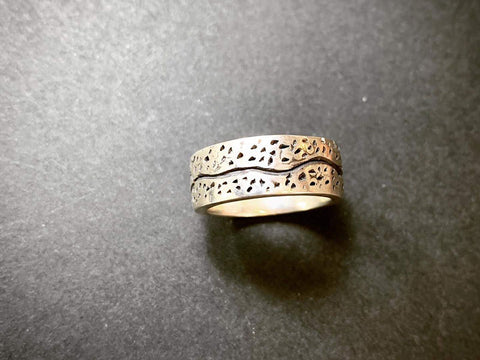 Oxidised Silver Ring made using lost wax | Jewellery Making Course | Pod Jewellery