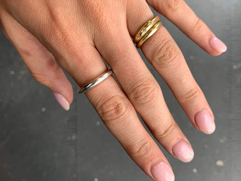Silver ring made in the Silver Ring workshop | Jewellery Classes