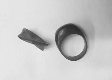 Wax carved rings