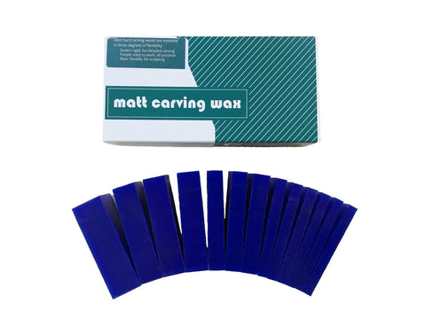 Matt Carving Wax Slices Blue 450g