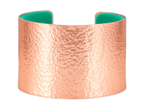 Copper cuff with pure wool felt lining
