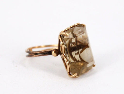 Retro Citrine Ring - Estate Piece
