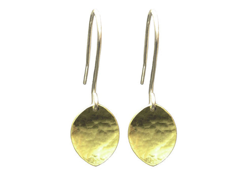 Leaf Drop Earrings with Sterling Silver Hooks