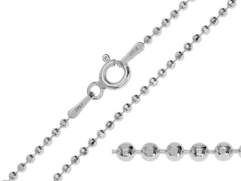Sterling Silver Regular Ball Chain Necklace | Pod Jewellery
