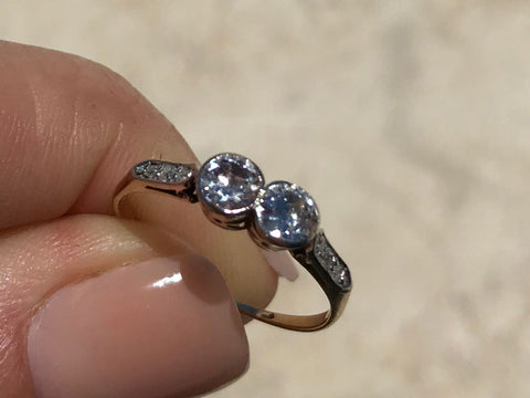 Vintage Two Stone Diamond Ring