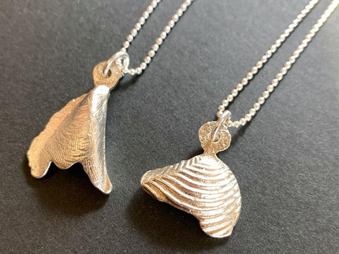 Sandcast shell pendants | Jewellery classes | Pod Jewellery