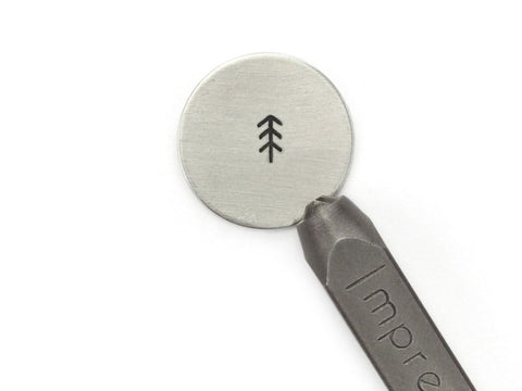 Simple Pine Tree Signature Design Stamp | Metal Stamps