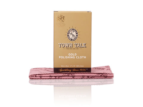 Town Talk Brilliant Gold Polishing Cloth 30 X 45cm  | Jewellery Making Supplies
