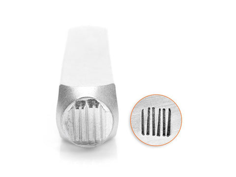 ImpressArt Vertical Lines Design Stamp - 6mm