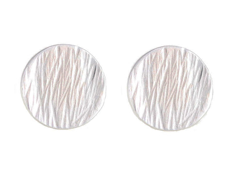 Sterling silver textured stud earrings